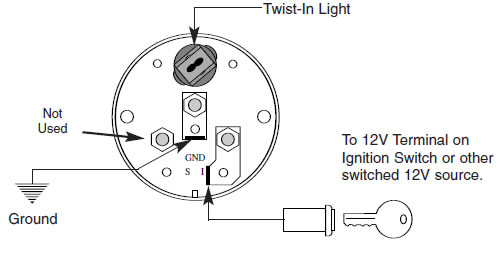 stewart warner oil pressure gauge wiring diagram cat 3 rj45 how to install an auto meter pro-comp ultra-lite water temp - electric on your 1979-2012 ...