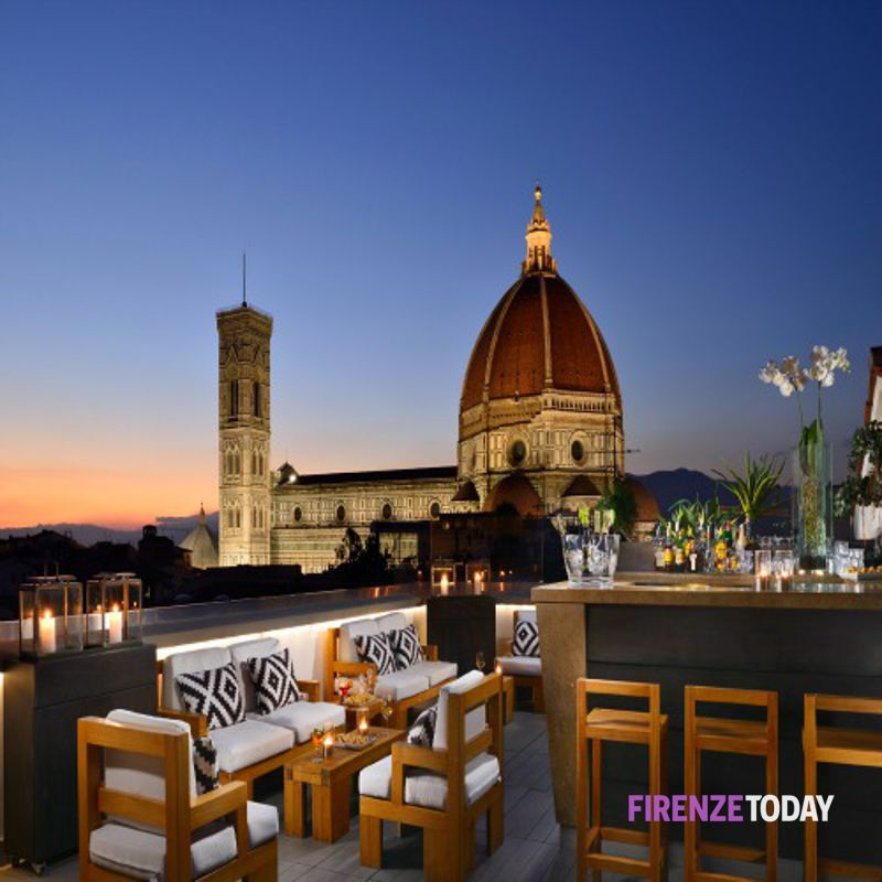 La Terrazza del Grand Hotel Cavour di Firenze un