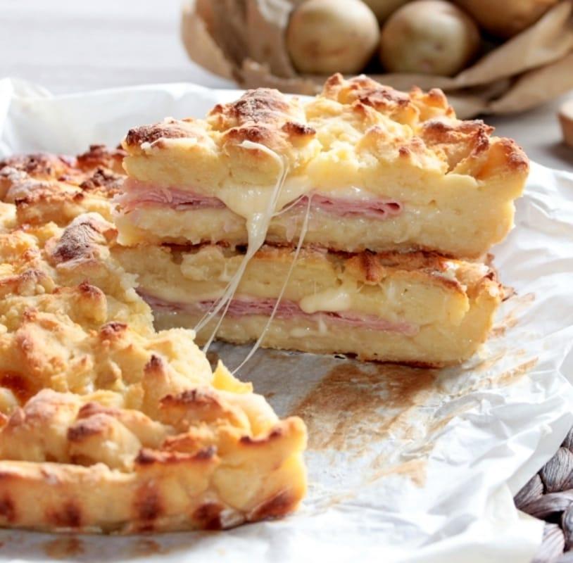 Torte salate ricetta della sbriciolata prosciutto e formaggio