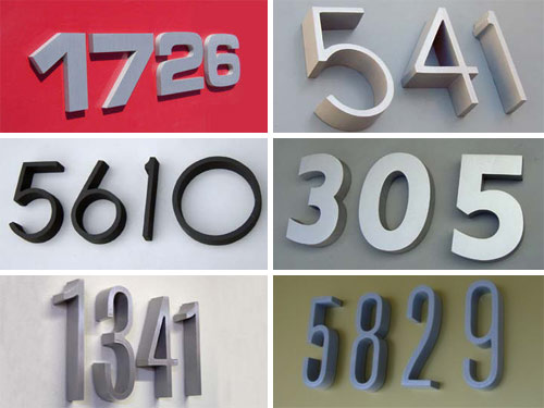 Modern House Numbers in interior design  Category
