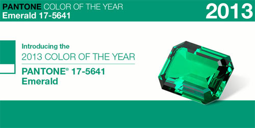 Pantone Color of the Year 2013: Emerald in news events interior design Category