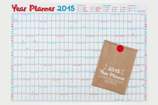 25 Modern Calendars for 2015 in style fashion main art Category