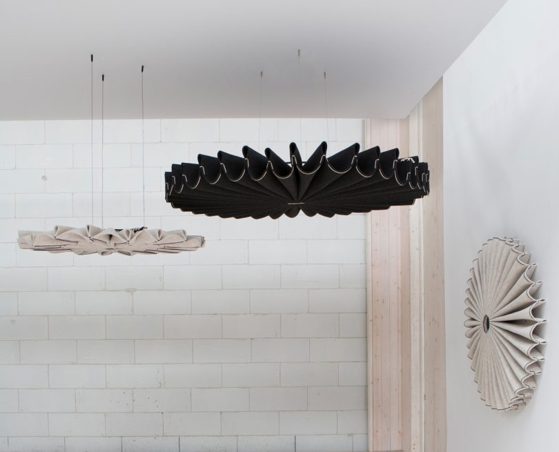 BuzziPleat: Sculptural, Sound Absorbing Forms by 13&9 Design