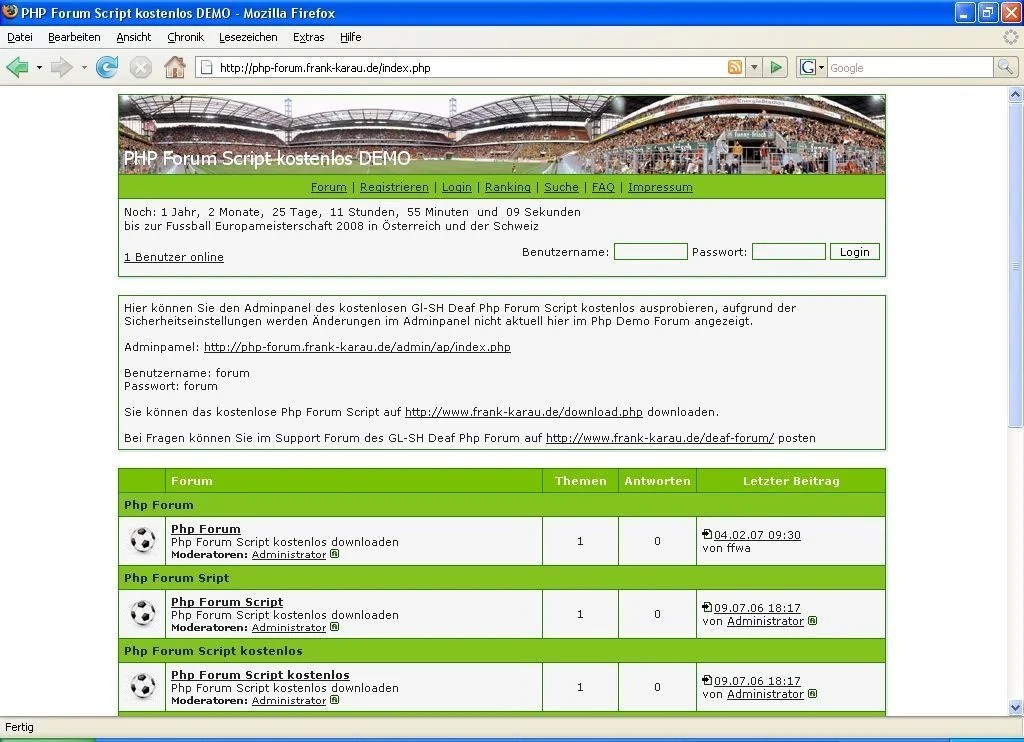 PHP Forum ohne My SQL | heise Download