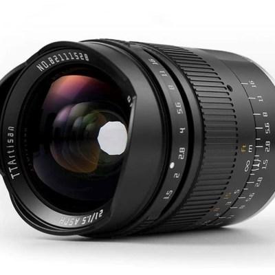 TTArtisan adds $250 Nikon Z, Sony E mount versions of its 21mm F1.5 lens