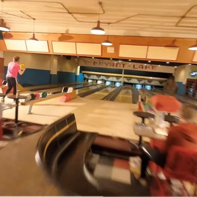 Video: FPV drone takes you through a bowling alley in spectacular tracking shot