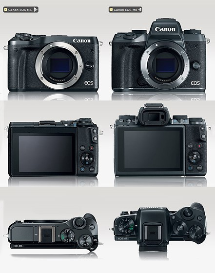 The importance of ergonomics. M5 vs M6.: Canon EOS M Talk Forum: Digital Photography Review
