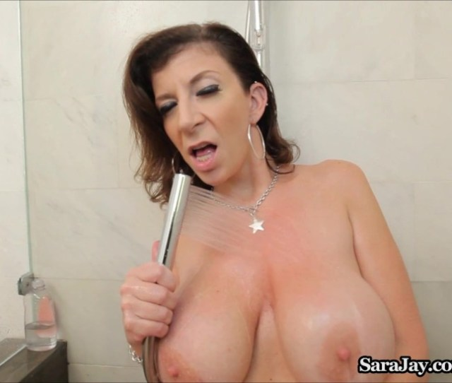 Sara Jay Showers Her Gigantic Fun Bags And Culo In The Shower 0508 Letmejerk Com