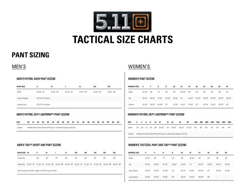 small resolution of check 5 11 tactical sizing chart to find your pant size here