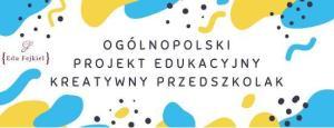 Logo projektu edukacyjnego kreatywny przedszkolak
