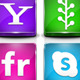 30 Candy 3D Social Icons - GraphicRiver Item for Sale