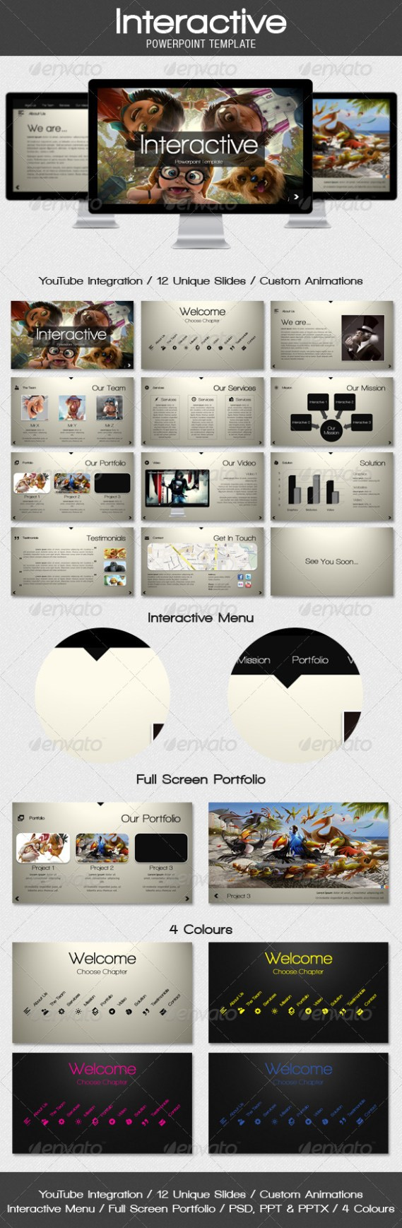 Selection of Eye-Catching PowerPoint Templates