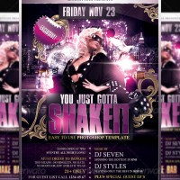 Presenting Graphicriver Author - sevenstyles - Shakeit  Flyer Template