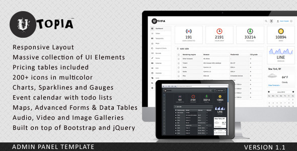 Utopia – our new admin panel theme is ready to grab – The
