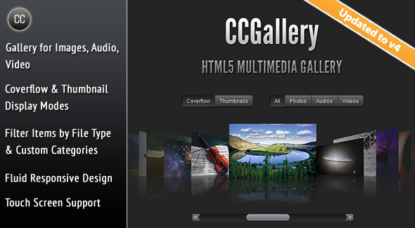CCGallery - HTML5 Multimedia Gallery