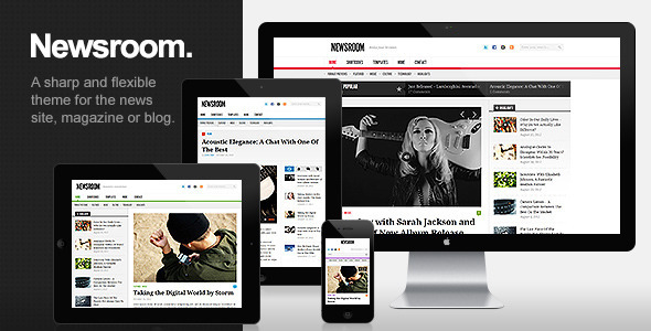 Newsroom - Responsive News & Magazine Theme - ThemeForest Item for Sale