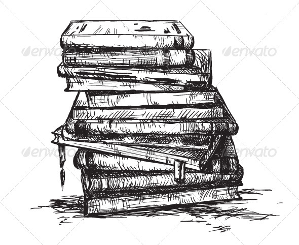 Draw A Cartoon Pile Of Books » Dondrup.com