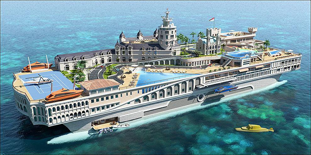 MONACO TIL SJØS: Superyachten «The Streets of Monaco» er stappfull av rå luksus Foto: Yatch Island Design