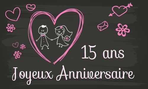 noces de crsital - 15 ans de mariage
