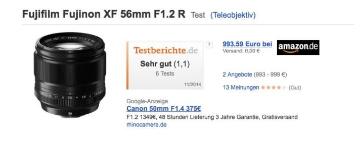 Fuji XF 1,2 56mm