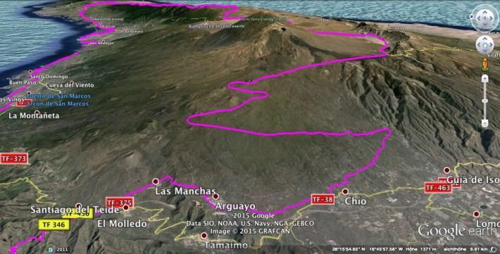 Sandra - BMW F800 - Canadas del Teide - Map 01