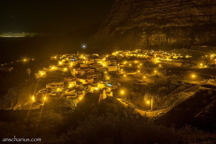 Agulp on La Gomera at night