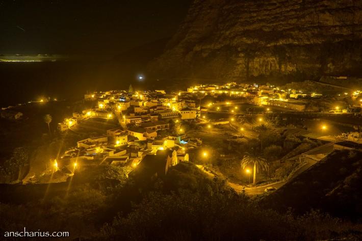 Agulp on La Gomera at night