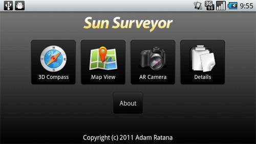 登山用アンドロイドアプリ「Sun Surveyor」について(太陽・月軌跡確認アプリ)