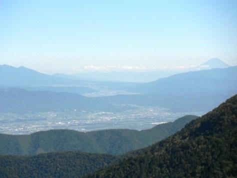 松本市街&富士山