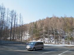 瑞牆山荘前駐車場