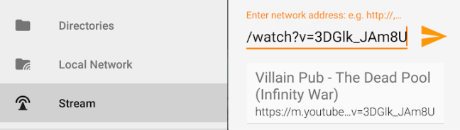 Streaming in VLC for Android