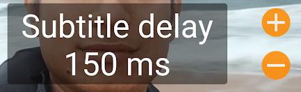 Subtitle Delay Options