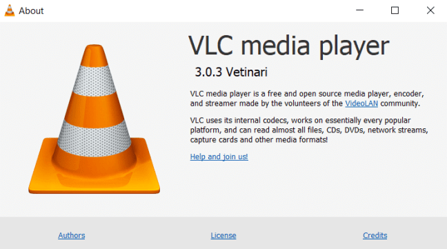 About VLC Media Player