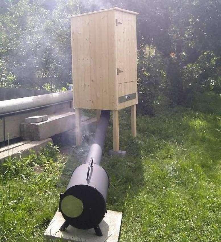 Fumador de madeira defumada a frio