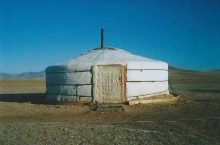 Ger on the Mongolian steppe
