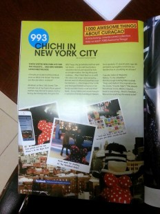 """""""Chichi in New York City"""" featured in GO Weekly's 50th Edition."""