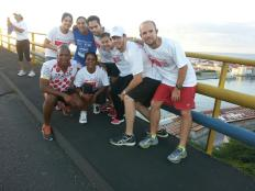 Team on Bridge