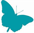 1000Butterflies.ca - just logo butterfly