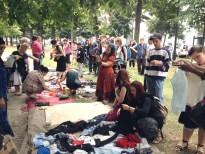 Marché gratuit organisé dans le centre de Bruxelles par 1000Bxl en Transition