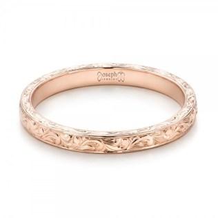 0.00 Center Gem - 14k Rose Gold Ring Joseph Jewelry - flat View