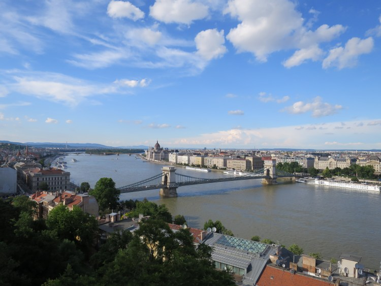 Budapest view vue chateau Danube