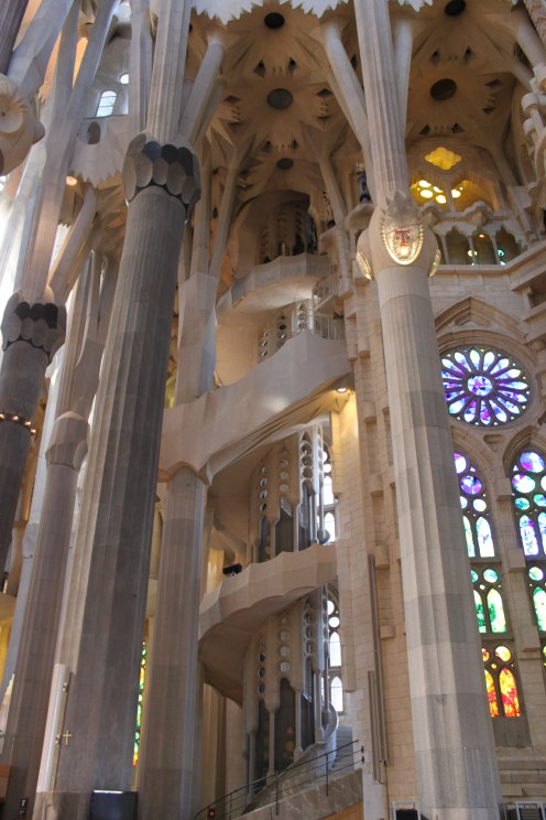Barcelona stained glass and organ