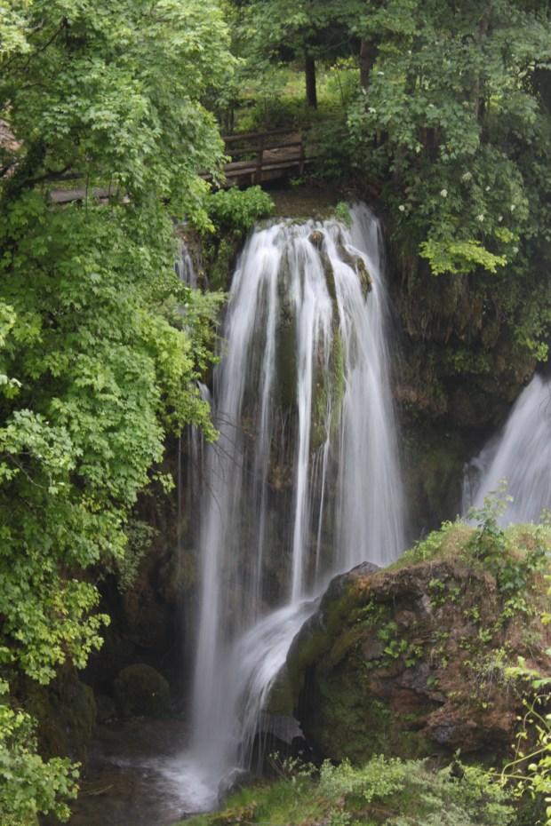 Waterfalls on rocks