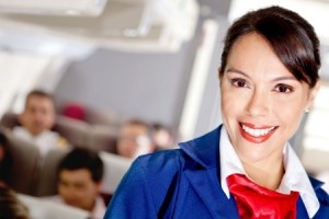 flight attendant on plane