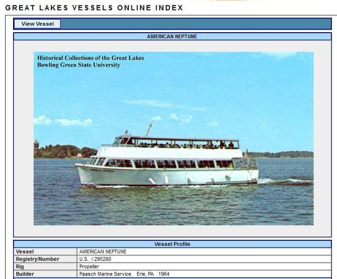 1000 Islands Tour Boat - American Neptune