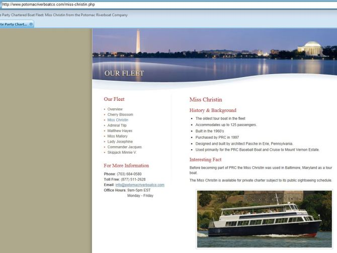 The Miss Christin, formerly ABL American Venus (courtesy https://www.potomacriverboatco.com/our-fleet/miss-christin/
