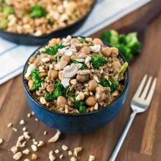 Vegan Chickpea Peanut Butter Rice Recipe