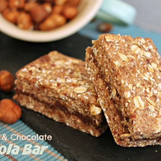 No Bake Hazelnut & Chocolate Granola Bars
