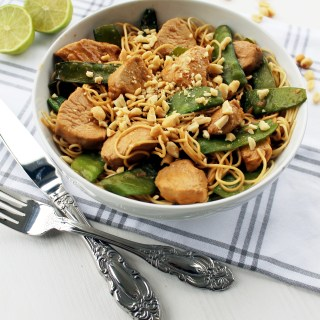 Creamy Satay Chicken with Mie Noodles