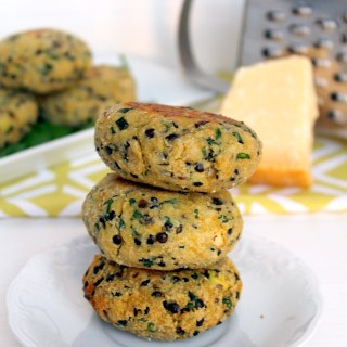 Parmesan and Lentil Veggie Burger Patties